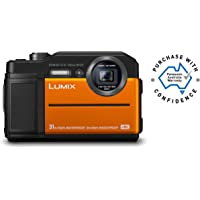 Panasonic Lumix FT7 Tough Underwater Digital Point and Shoot Camera with 4K Photo and 4K Video, Orange (DC-FT7GN-D)