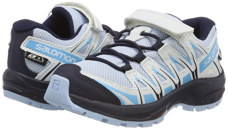 SALOMON xa pro 3d cswp j, scarpe da trail running bambini, nerorosso (blackblackhigh risk red), 31 eu
