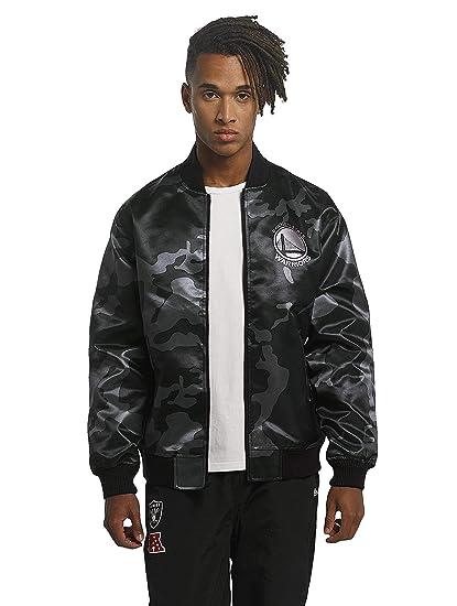 55359e2db New Era Men Bomber Jackets BNG Golden State Warriors Sateen Black M   Amazon.co.uk  Clothing