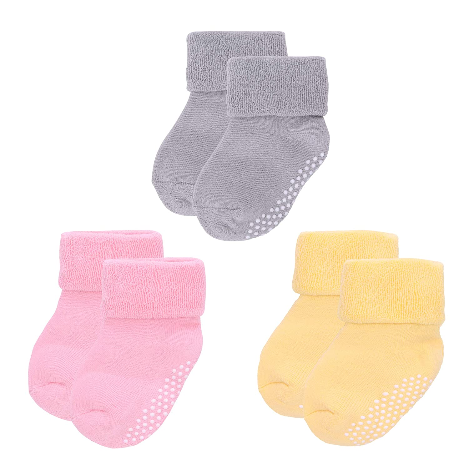 3 Pack Baby Non Slip Socks Winter 0-3 years Toddler Boys Girls Thick Warm Socks Home Breathable Comfortable