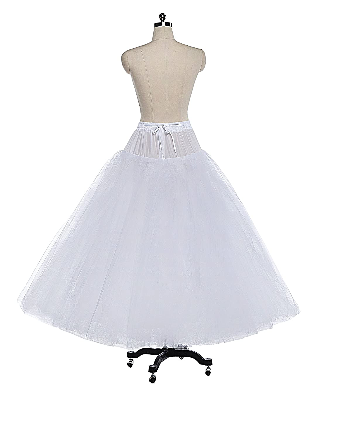 Amazon.com: 8 Layer Tulle Hoopless Bridal Petticoat Ball Gown ...