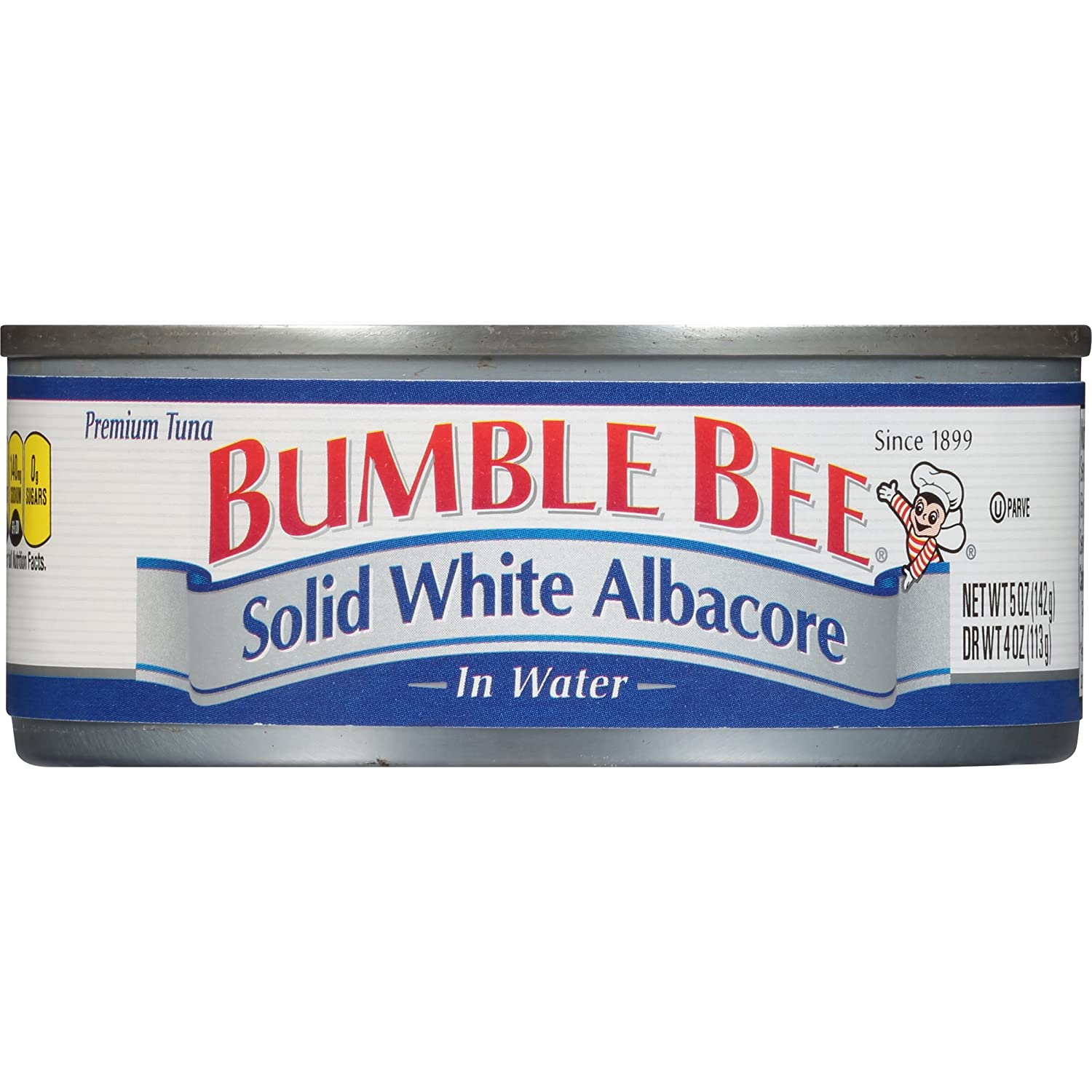BUMBLE BEE Solid White Albacore Tuna in Water, Canned Tuna Fish, High Protein Food, 5 Ounce Can (Pack of 24)