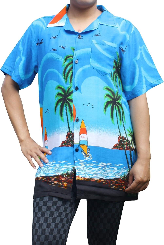 Full Funk Hawaiian Shirt with Coconut Views Short Sleeve Light Rayon Viscose