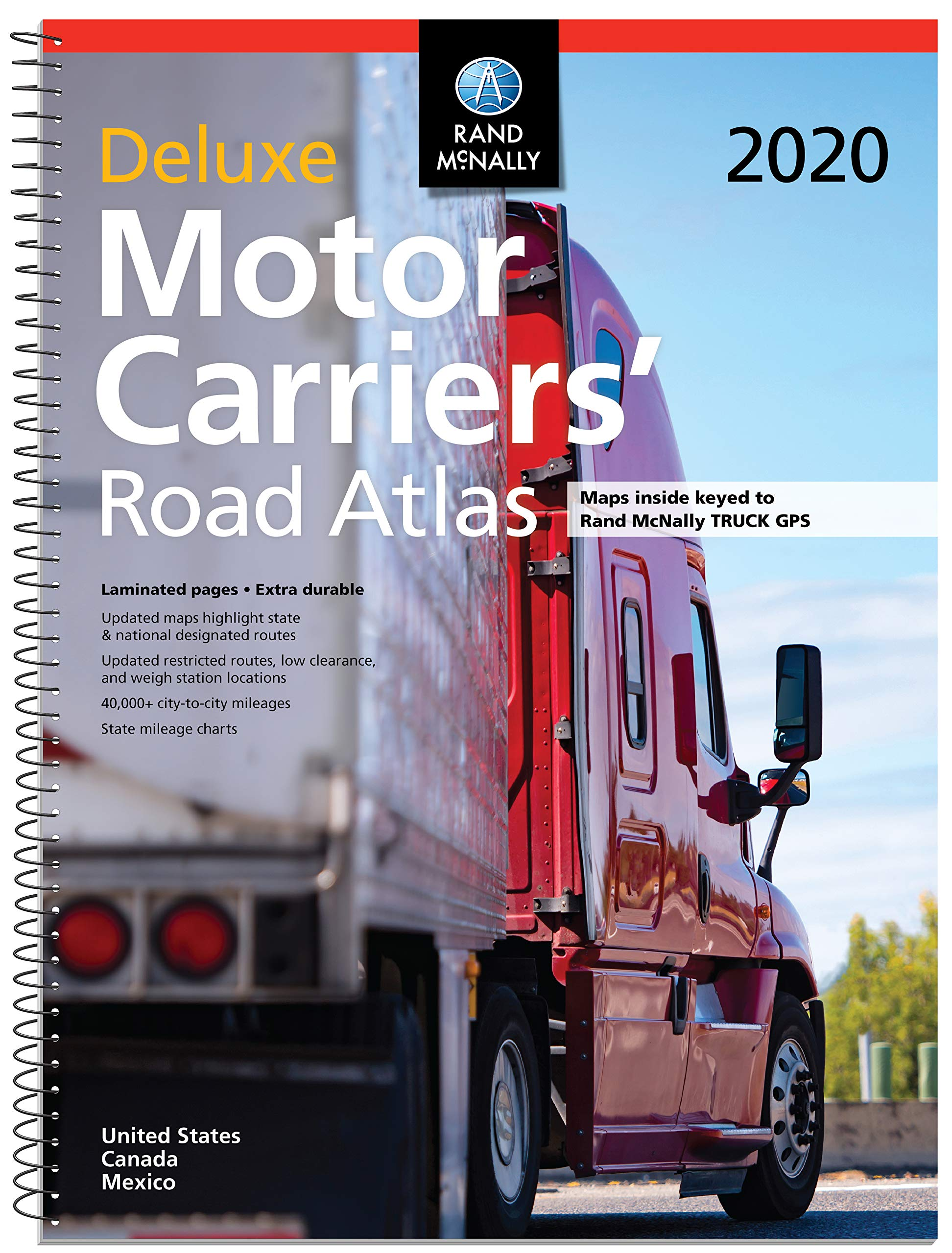 Rand McNally 2020 Deluxe Motor Carriers' Road Atlas by RAND MCNALLY