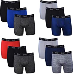 TapouT Mens Performance Boxer Briefs - 12-Pack Athletic Fit Breathable Tagless Underwear