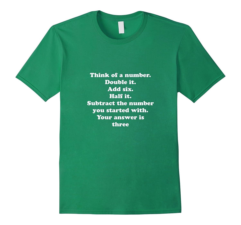 Cool Math T Shirt Geek Nerd English Quote Problem Answer Tee-ANZ ...