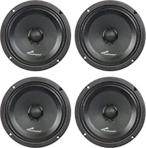 4) Audiopipe APMB-8SB-C 8 Inch 250W Low Mid Frequency Midwoofer Car Loudspeakers