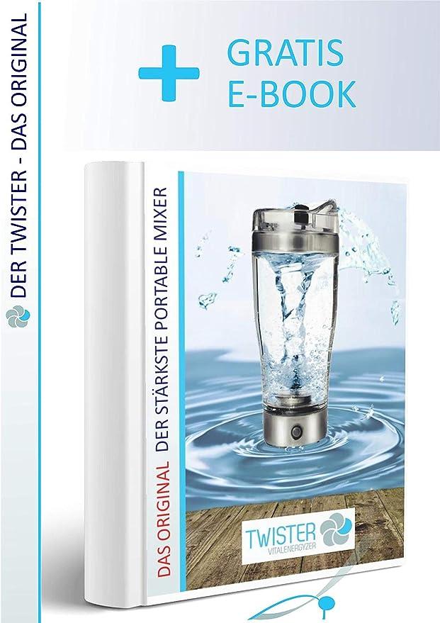 energetisiertes Eau portable Mixeur /électrique avec c/âble de charge USB et prise dalimentation TWISTER de Power Loriginal Shaker /à cocktail Fitness Prot/éines Mixeur Blender leau wirbler pour hexagonales