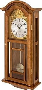 Fox and Simpson Madera Reloj de Pared con péndulo con carillón de Westminster, Roble