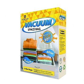 Amazon.com: TAKAOUSA Bolsa de vacío con doble cierre de ...