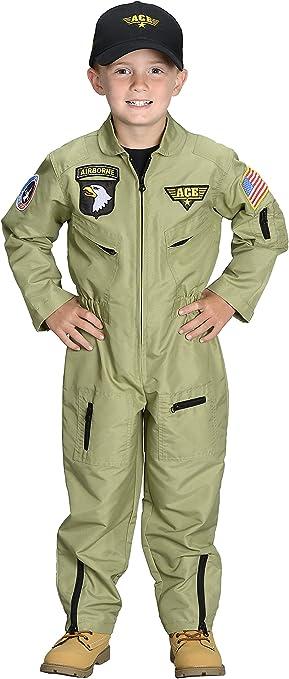 Amazon.com: Aeromax Jr. Traje de piloto de caza con gorra ...
