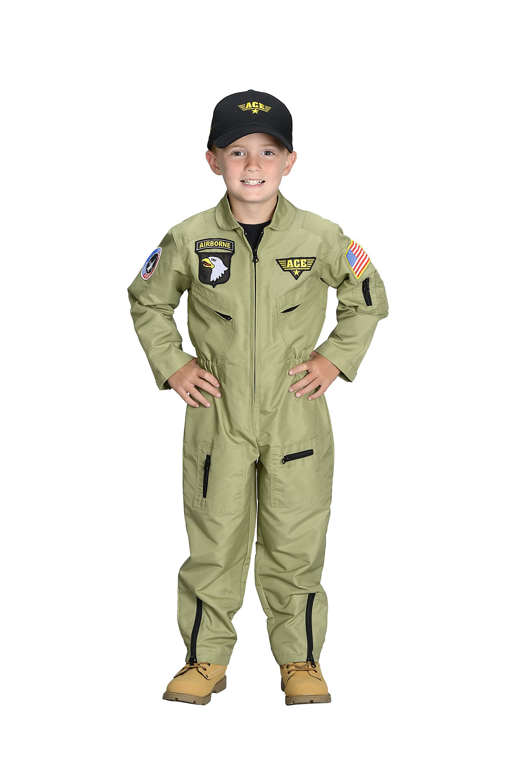 Aeromax Jr. Fighter Pilot Suit with Embroidered Cap, Size 6/8. by Aeromax (Image #1)