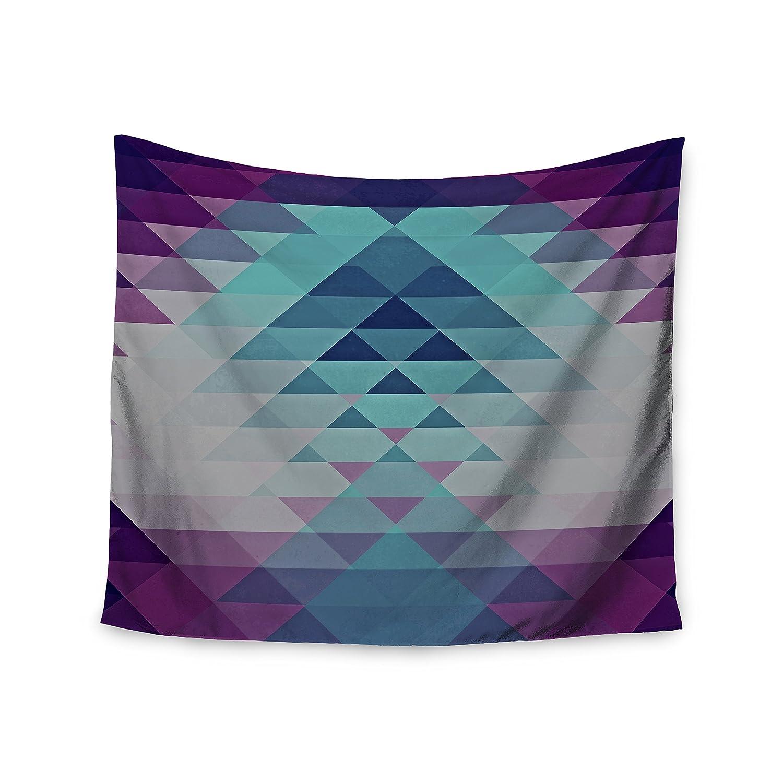 51 X 60 Kess InHouse Nika Martinez Hipster Girl Blue Lavender Wall Tapestry