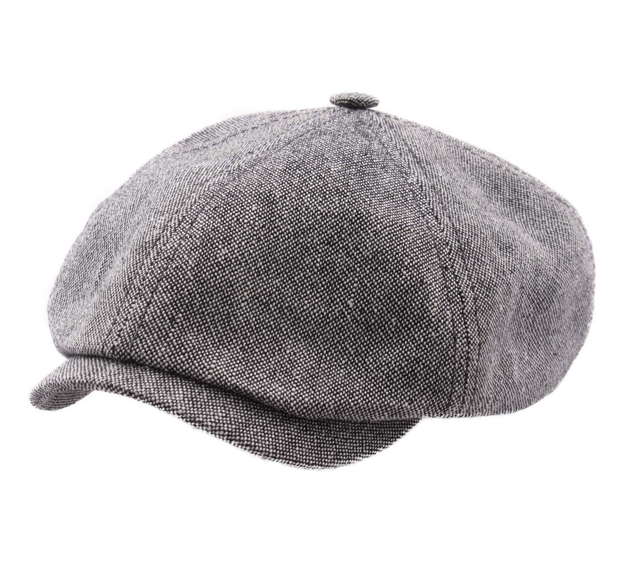 Stetson Panel Cap Linen/Cotton Flat Cap Size L