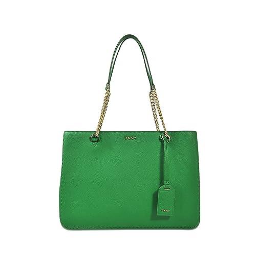 DKNY - Bolso de tela de Piel Lisa para mujer verde verde  Amazon.es  Zapatos  y complementos cdb8df18f670