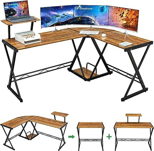 Deal of the week: GreenForest L Shaped Desk 64 Large Size Reversible Corner Computer Desk