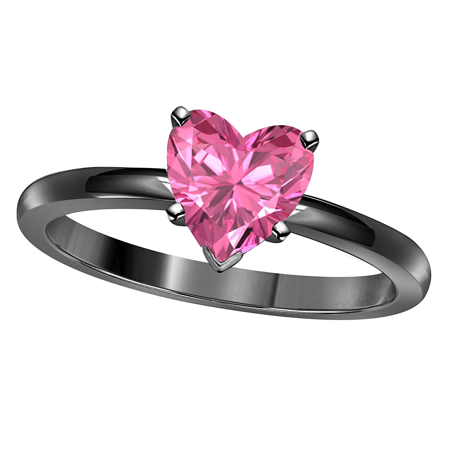 Valentine day Special 1.00CT Heart Shape Lab Created Pink Sapphire ...