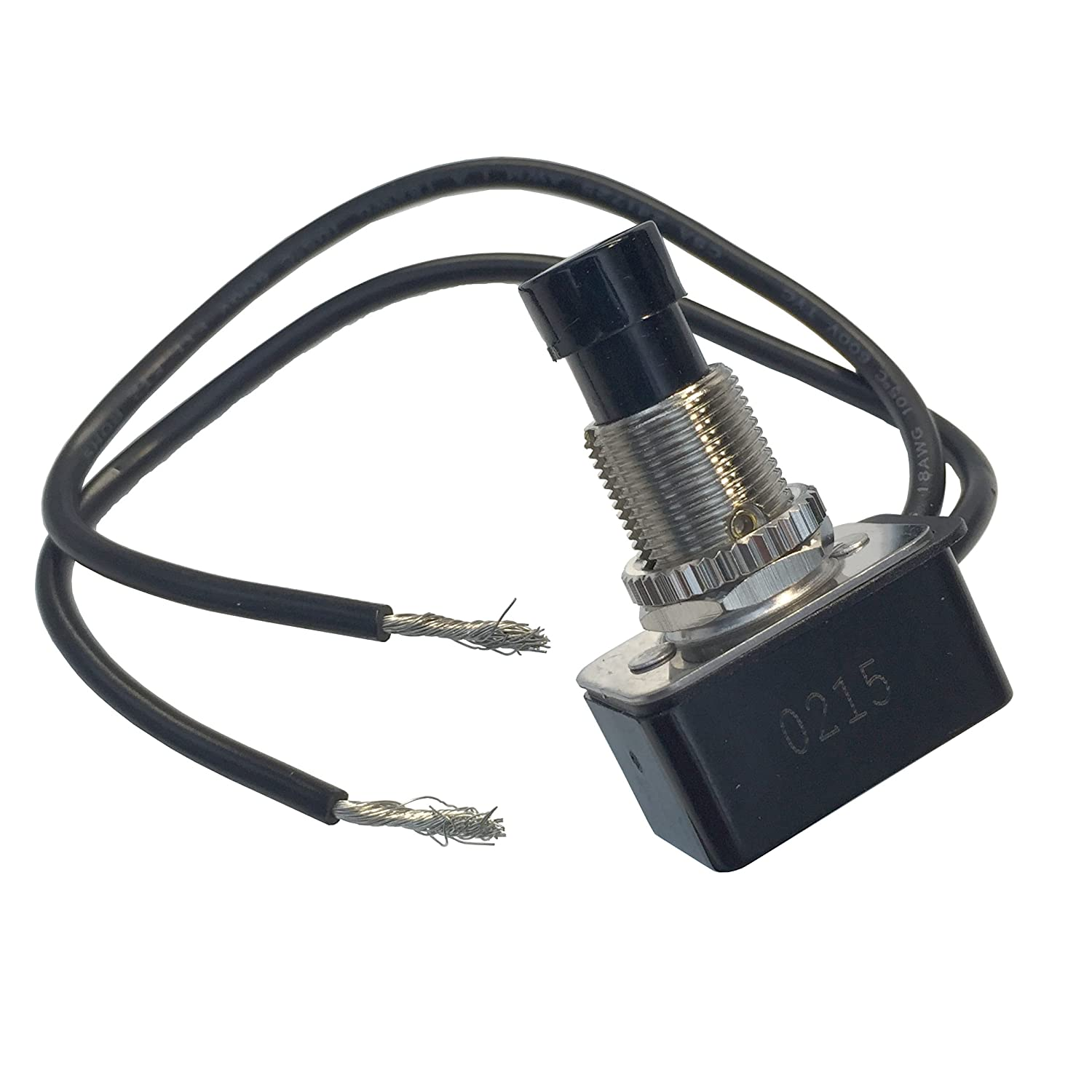 Gardner Bender Gsw 21 Maintained Contact Push Button Switch Spst Wiring Single Pole Throw Rocker With Light Page On Off Motor Rated 10 A 125 V Ac For Replacement Industrial Equipment Automotive Toggle Switches