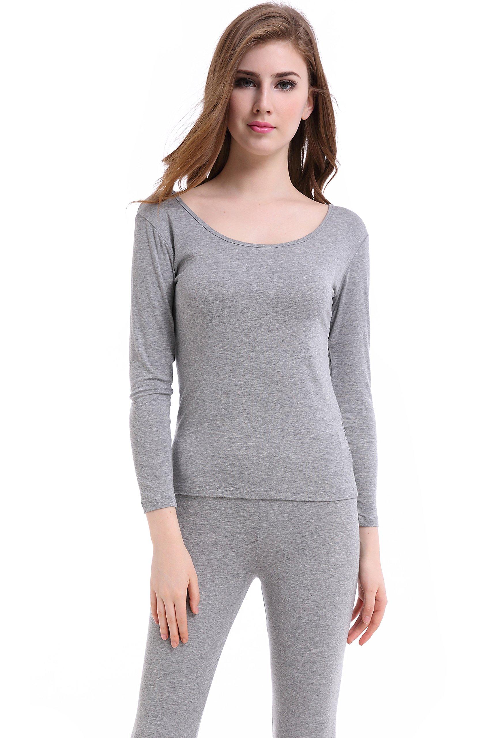 Thermal Underwear Women Long Base Layer Winter -Ultra Thin Set Bottom Pajama