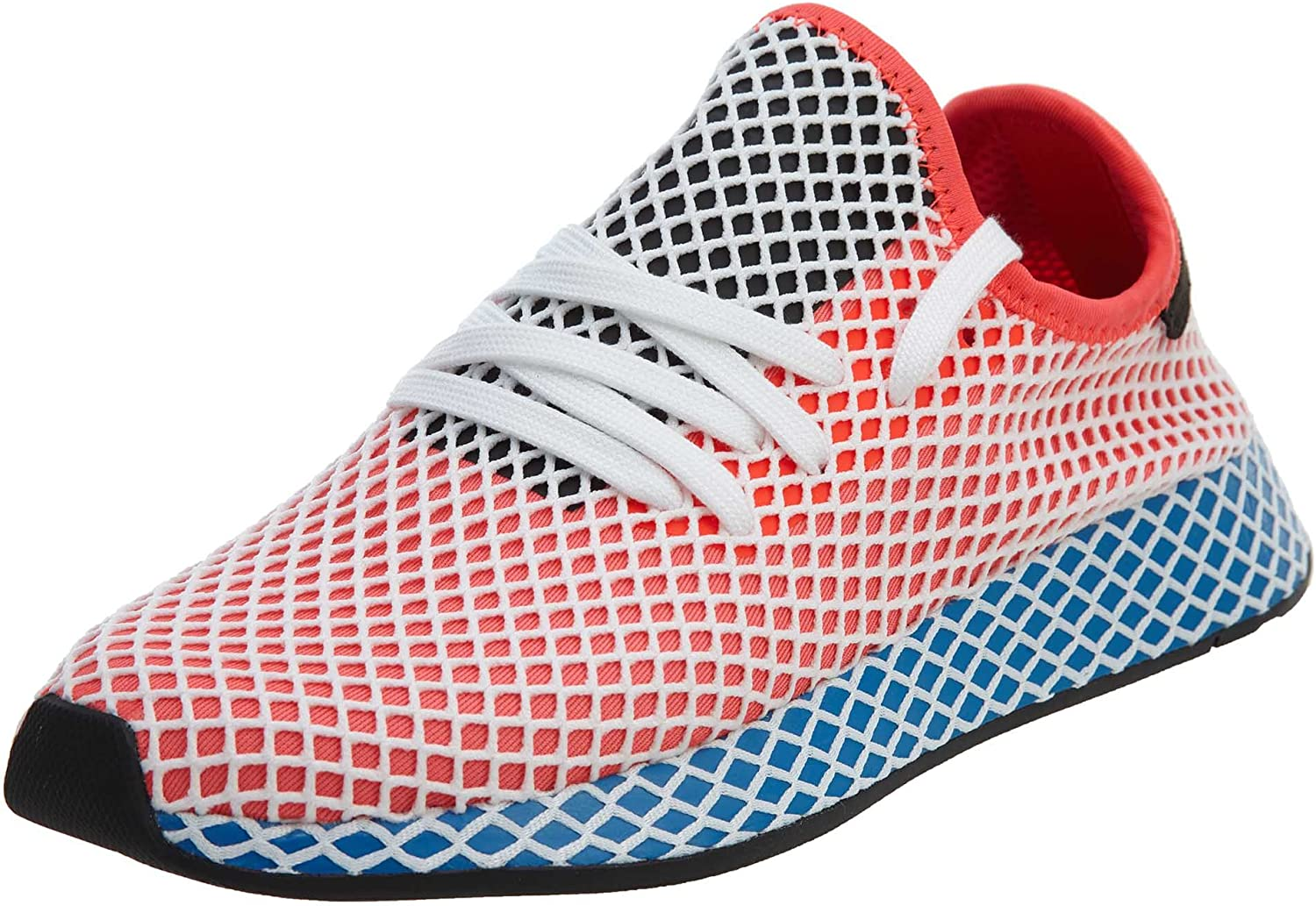 adidas Mens Originals Deerupt Runner Solar Red Blue Bird Mesh Size 10.5