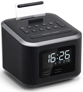 Alarm Clock Radio,Wireless Bluetooth Speaker,Digital Alarm Clock USB Charger for Bedroom with