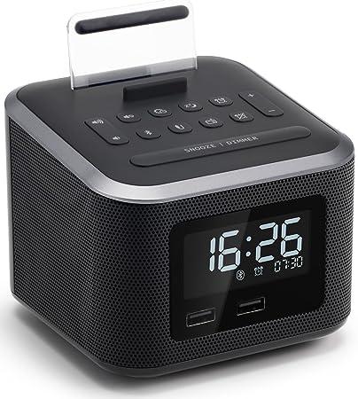 277b10429e2 Homtime Wireless Bluetooth Speaker with Digital Alarm  Amazon.in   Electronics