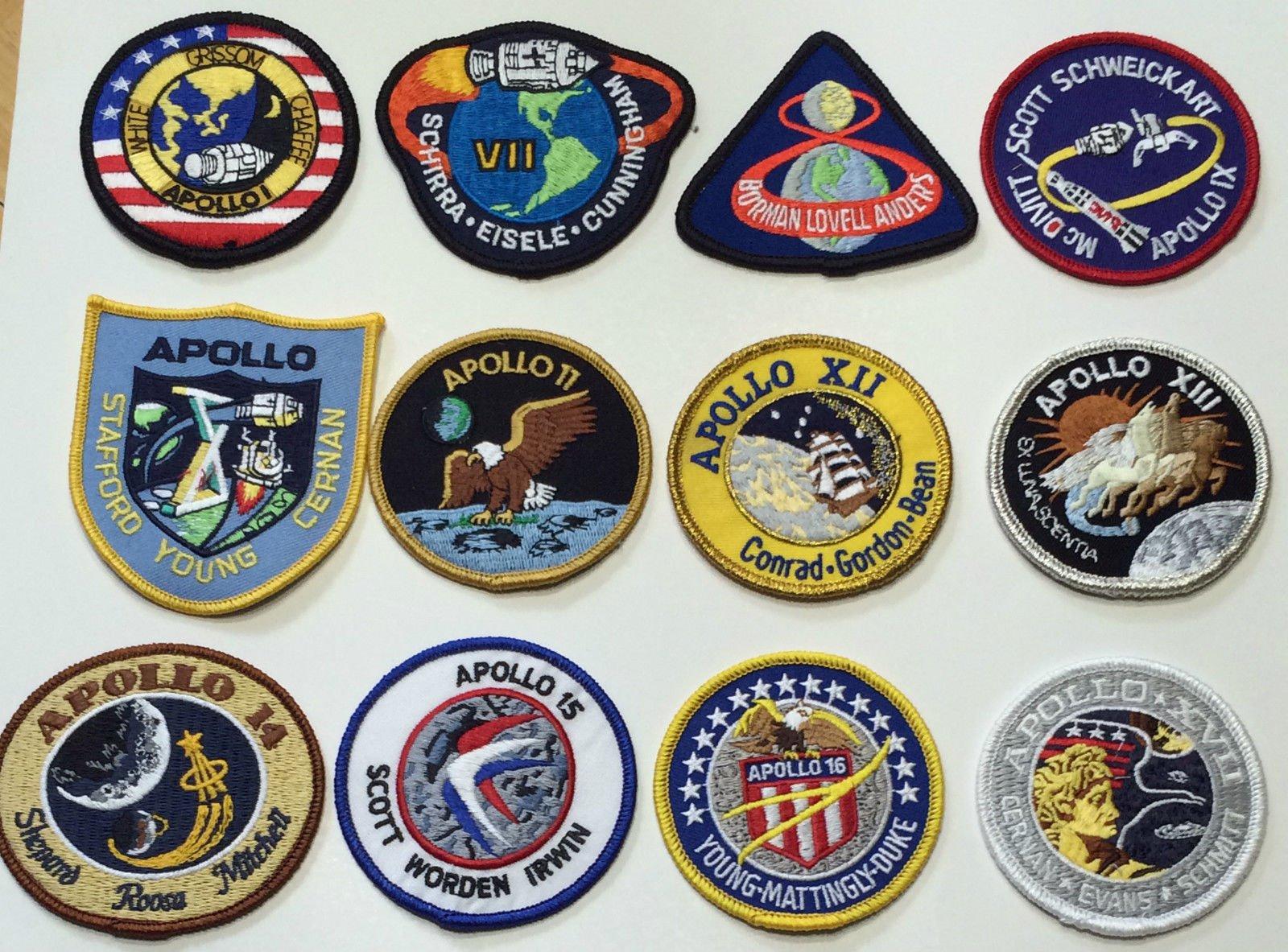 NASA Apollo Mission Patch Set Apollo 1,7,8,9,10,11,12,13,14,15,16,17 by NASA