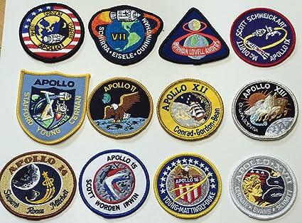 Amazon NASA Apollo Mission Patch Set 178910111213