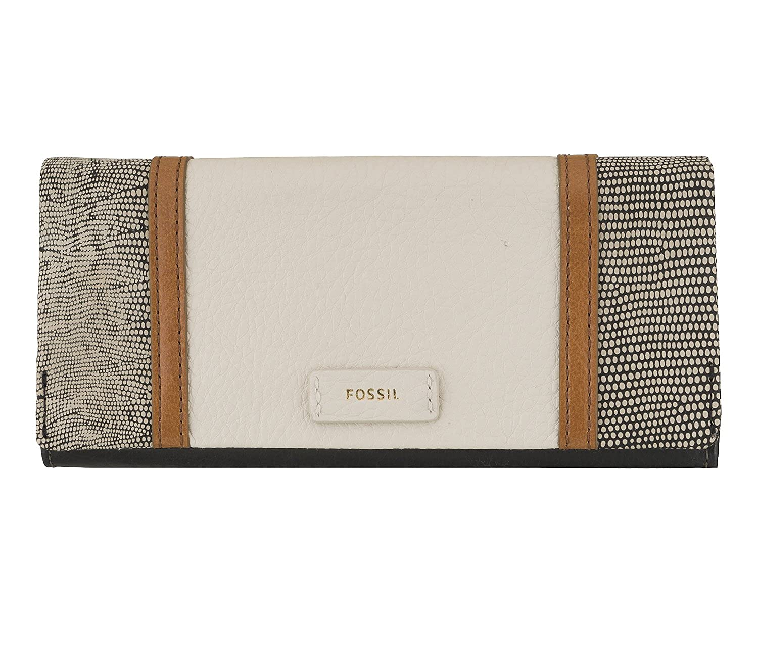 Fossil Ellis 29 Monedero des mujeres blanco y negro: Amazon ...