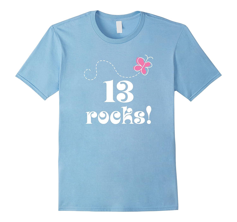 13th Birthday T-shirt 13 Year Old Teen Girl Photo Gift Tee-PL