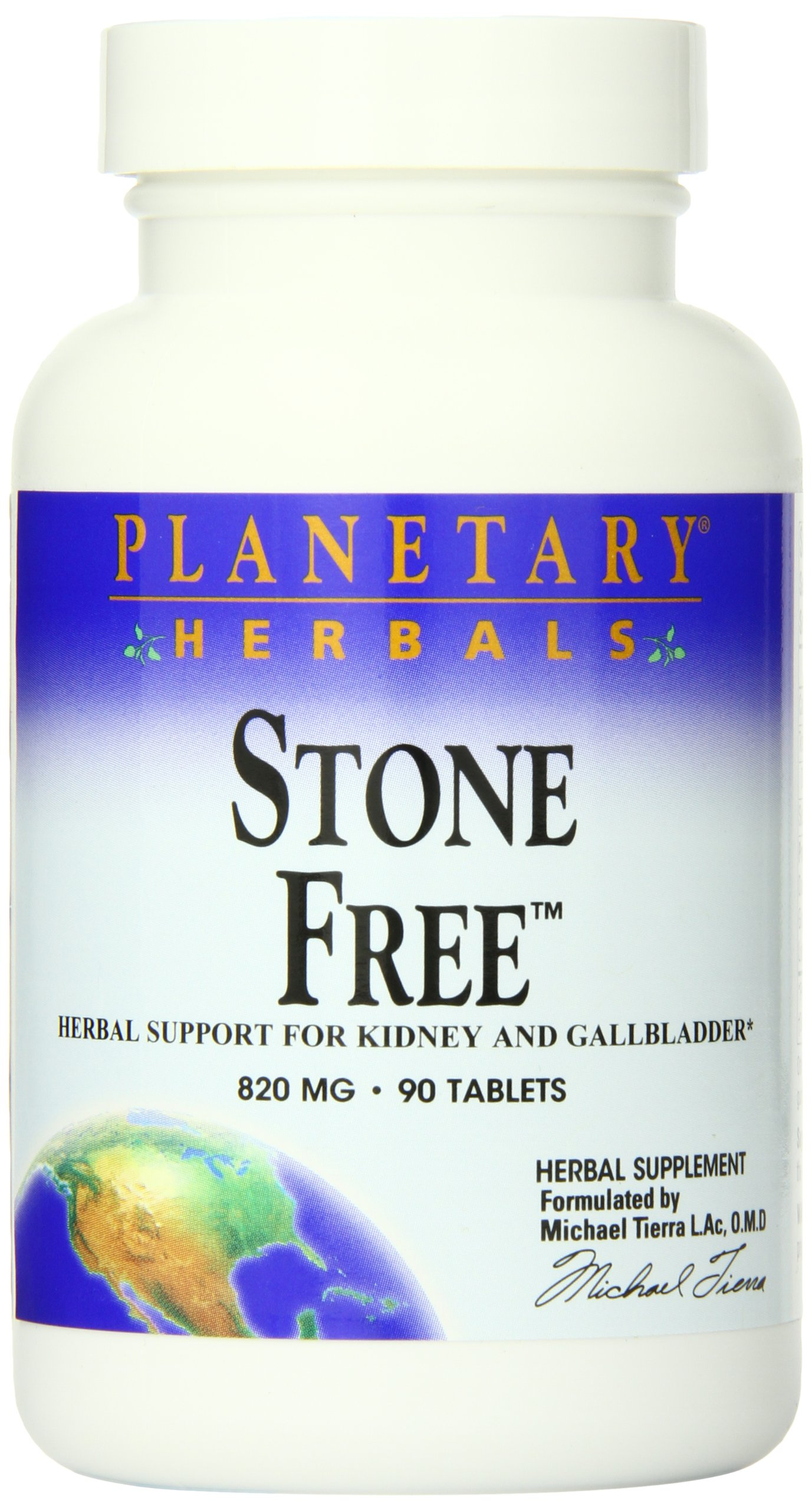 Planetary Herbals Stone Free 820mg, Herbal Support for Kidney and Gallbladder, 90 tablets