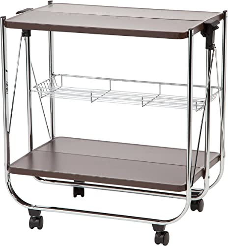 IRIS Foldable Serving Cart, Brown