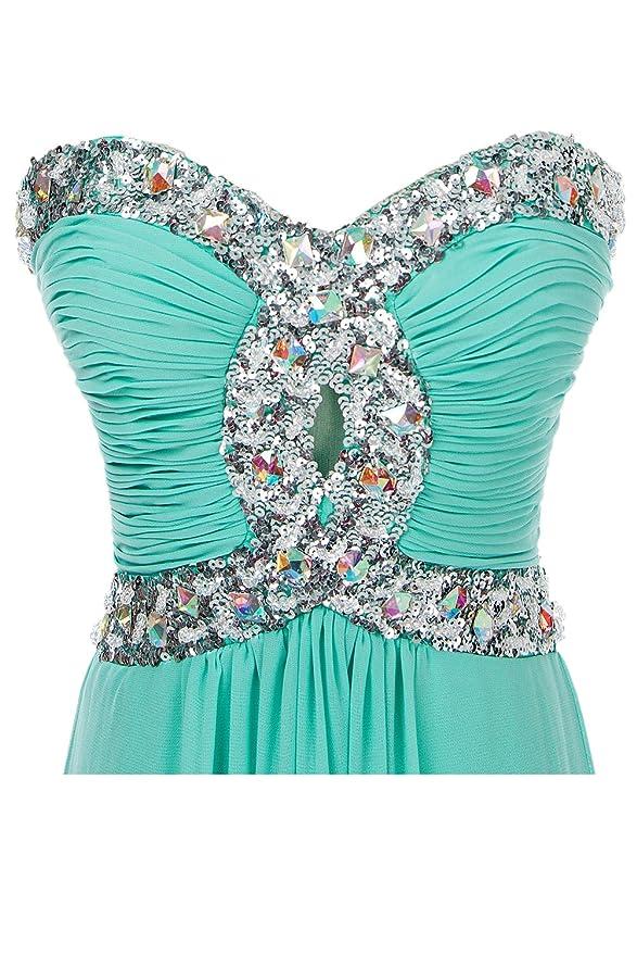 Eros ebridal del tesoro novia vestido larga noche de gasa Ropa Vestido De Pelota verde (54W) EU: Amazon.es: Ropa y accesorios