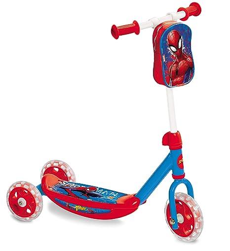 Spiderman - Patinete 3 Ruedas con Bolsa (Mondo Toys 18273)