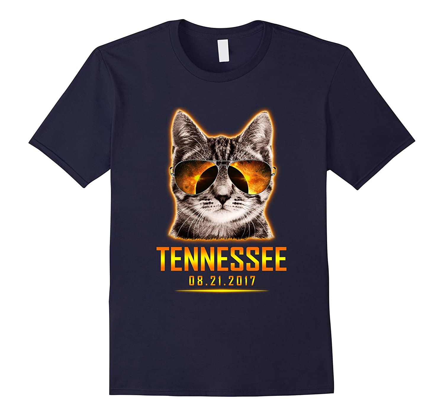 Cat Is Watching Tennessee Total Solar Eclipse 2017 T-shirt-BN