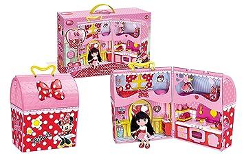 ofertas exclusivas promoción especial 2019 mejor I love Minnie- Minnie Mouse Casa con maletín y muñeca, 55.1 x 35.1 x 12.7  (Famosa 700010761)