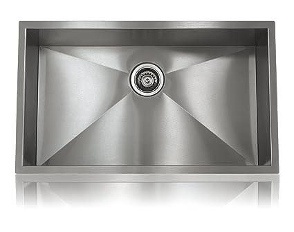 Lenova SS-0Ri-S1 Zero Radius Stainless Steel Single Bowl Under-Mount ...