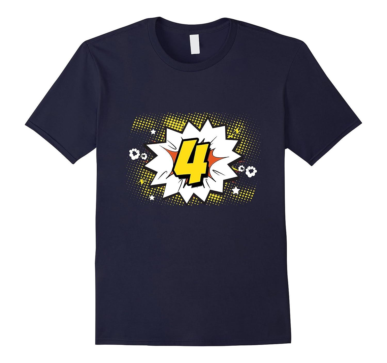 4th Birthday T-Shirt Boy Girl Comics 4 Party Fun Cartoon Tee-TD