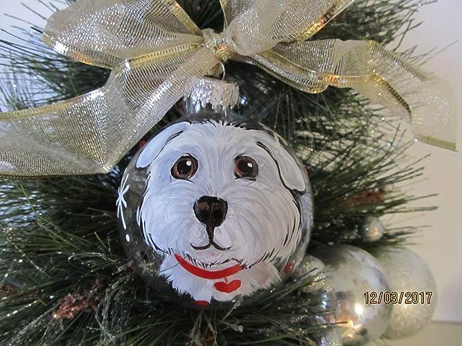 Amazon Com Ornament Portrait Custom Hand Painted Dog Cat Animal