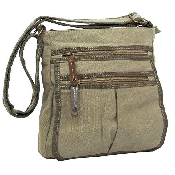 7578819fae17 Man Bags for Men Flight Shoulder Cross Body Satchels Small Fashion Day Bag  in Canvas (Beige)  Amazon.co.uk  Clothing