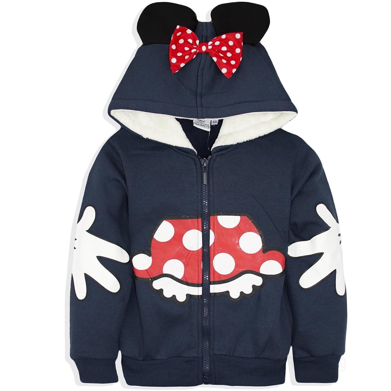 Disney Minnie Mouse Girls Hoodie Zipped Sweatshirt, Warm Cosy Jumper Jacket 2-8 Years - New 2017/18 24397_117656