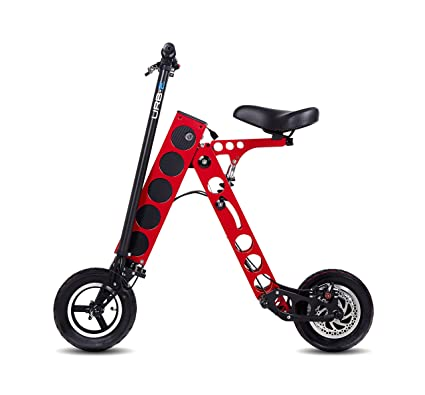 Folding Electric Scooter >> Amazon Com Urb E Folding Electric Scooter Pro Gt Red Automotive