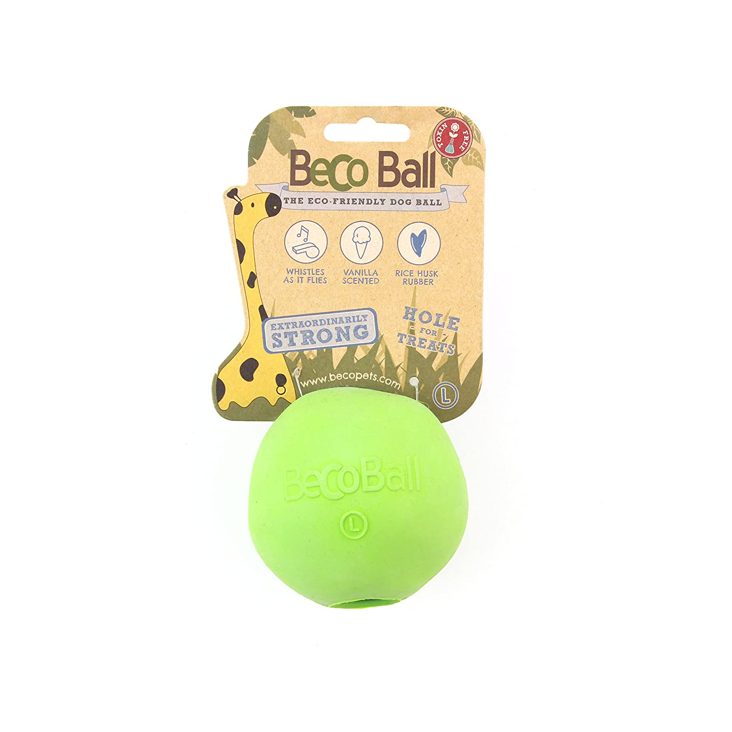 BECO THINGS Palla Naturale Becoball Verde Giochi Per Cani 5060189751273