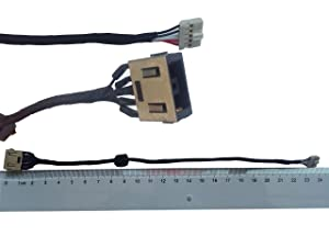 DC-IN Jack for Lenovo Ideapad G50-70 G50-80 G50-85 G50-90 DC30100LE00 G50-80 G50-85 G50-90 20351 DC30100LF00, DC Power Jack Harness Port Connector Socket with Wire Cable.