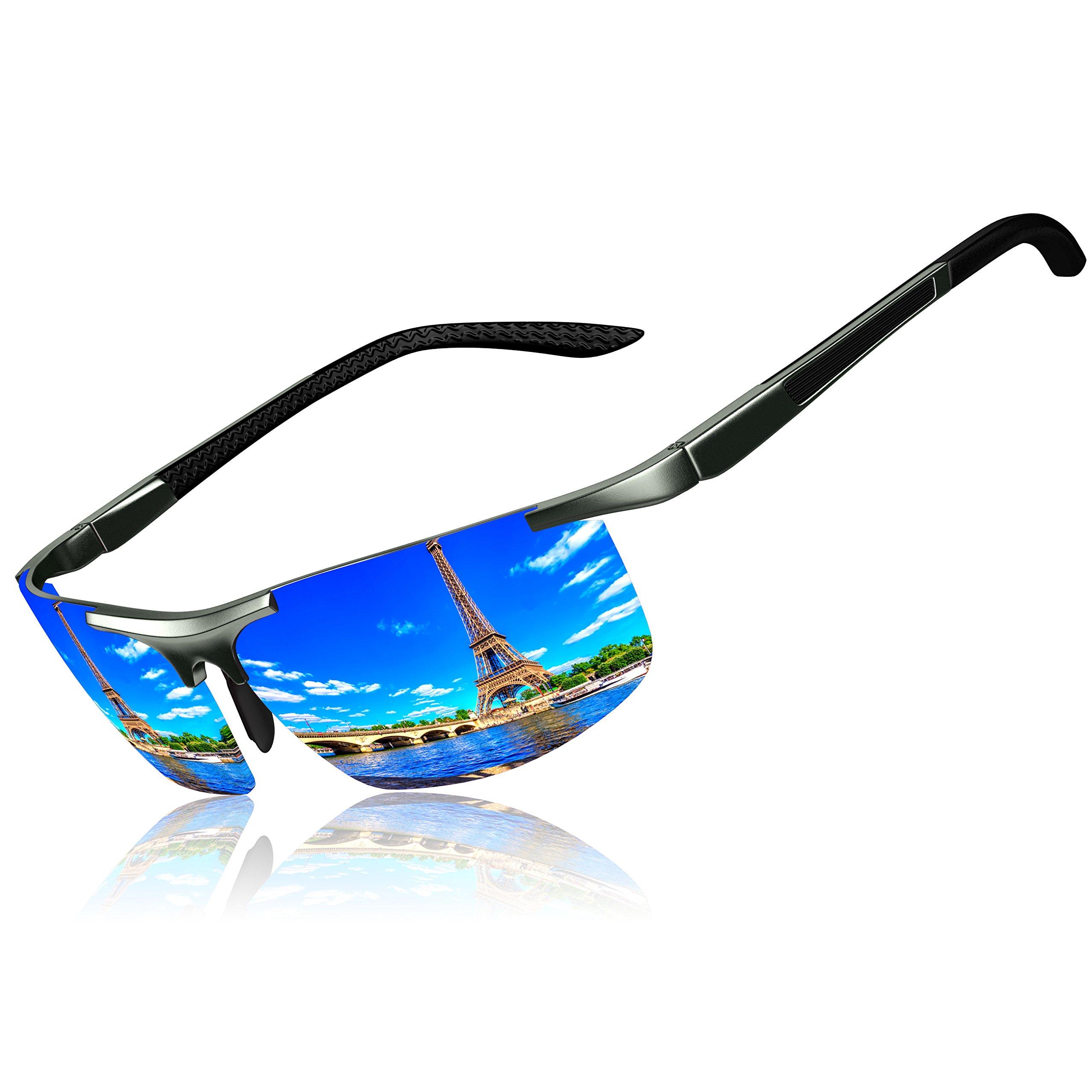 KITHDIA Mens Polarized Sunglasses for Driving Golf Al-Mg Metal Frame UV400
