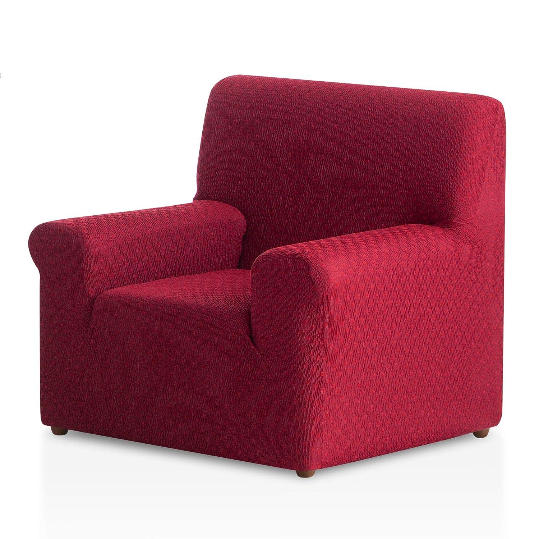 Bartali Funda de sillón elástica Olivia - Color Granate - Tamaño 1 Plaza (de 50 a 90 cm)