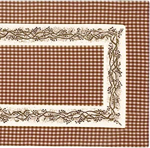 "The Country House Collection Burgundy Berry Vine 54"" Table Runner"