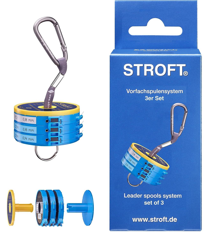 Stroft - Vorfachspulensystem mit 3 Cutterringen, 3 Sicherungsringen ...