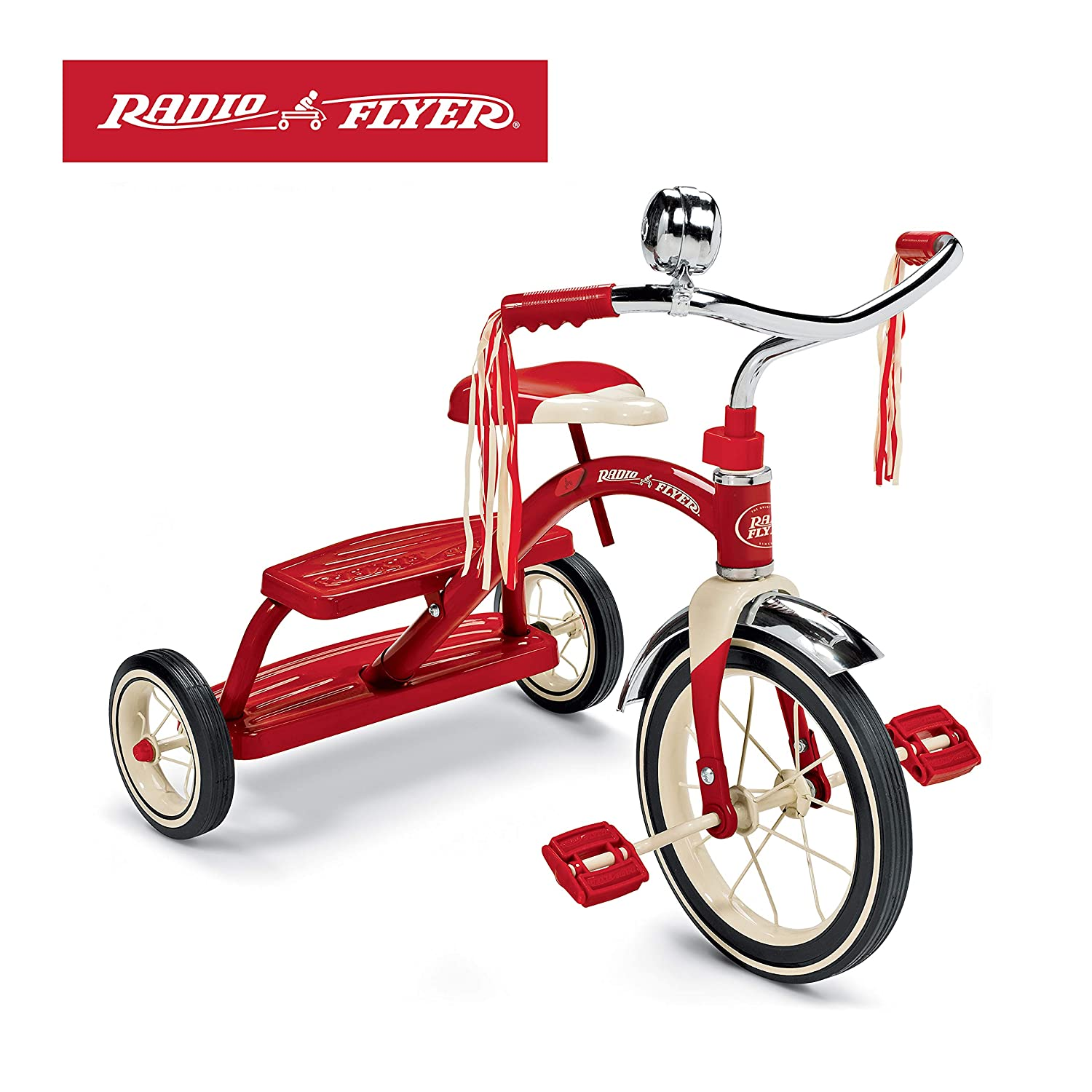 e4a8d08e7fa86 Radio Flyer Classic Red Dual Deck Tricycle