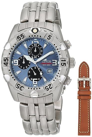 94dede4df4b1 Lotus Reloj Análogo clásico para Hombre de Cuarzo con Correa en Acero  Inoxidable 15294 2  Amazon.es  Relojes